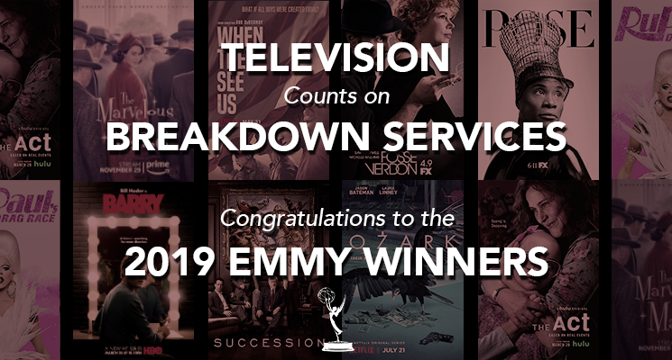 Congratulations to the 2019 Emmy winners.