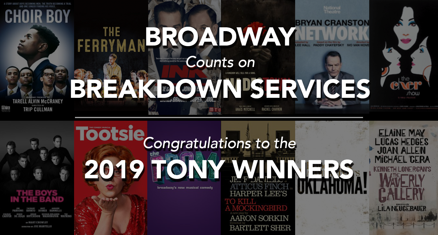 Congratulations to the 2019 Tony winners.
